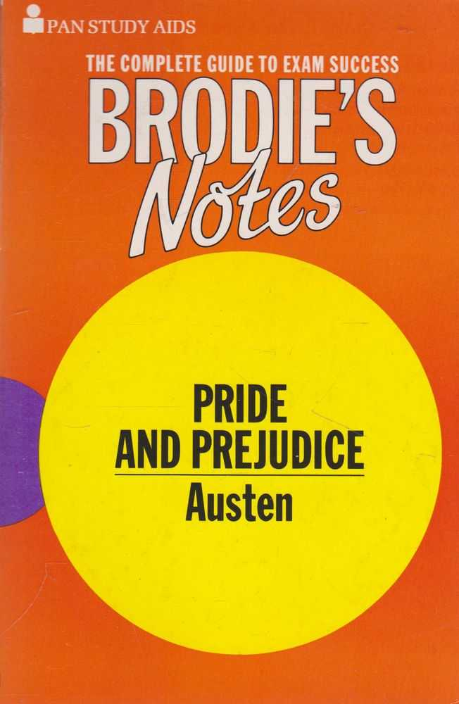 Image for Brodie's Notes On Jane Austen's Pride And Prejudice