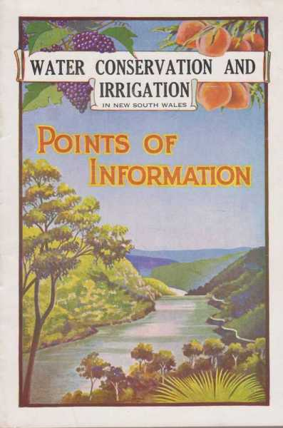 Image for Water Conservation and Irrigation in New South Wales - Points of Information