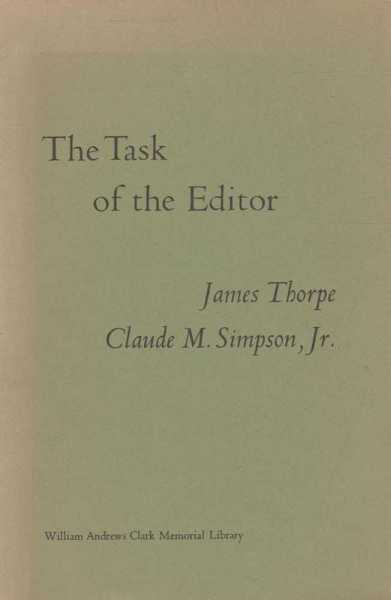 Image for The Task of the Editor