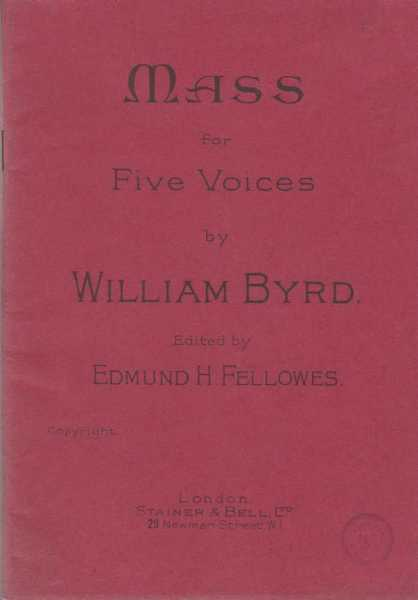 Image for Mass For Five Voices