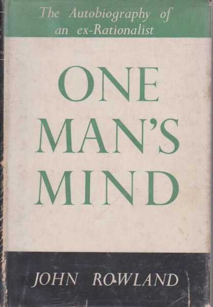 Image for One Man's Mind - An Autobiographical Record