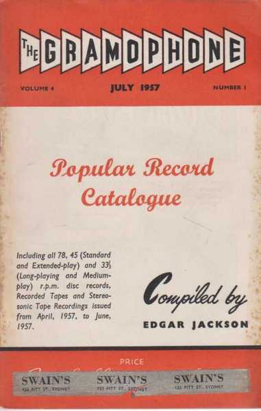 Image for The Gramophone July 1957 Volume 4 Number 1 - Popular Record Catalogue