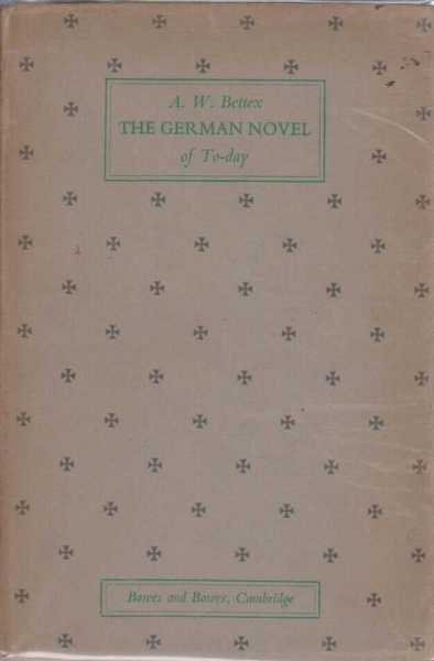 Image for The German Novel of Today