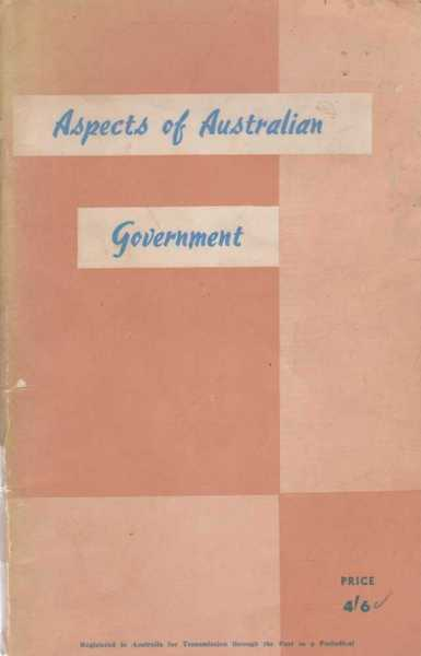 Image for Aspects of Australian Government - A Short General Survey of Australian Political Instutions