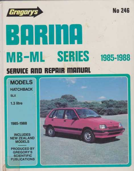 Image for Gregory's Barina MB-ML Series 1985-1988 Service and Repair Manual No. 246
