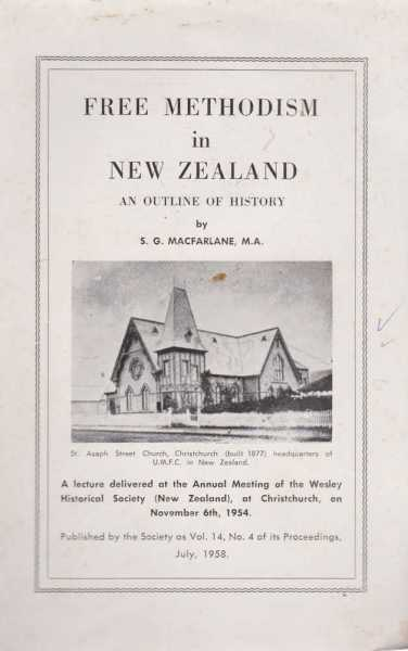 Image for Free Methodism in New Zealand - An Outline of History