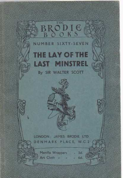 Image for The Lay of the Last Minstrel