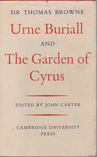 Image for Urne Buriall and The Garden of Cyrus