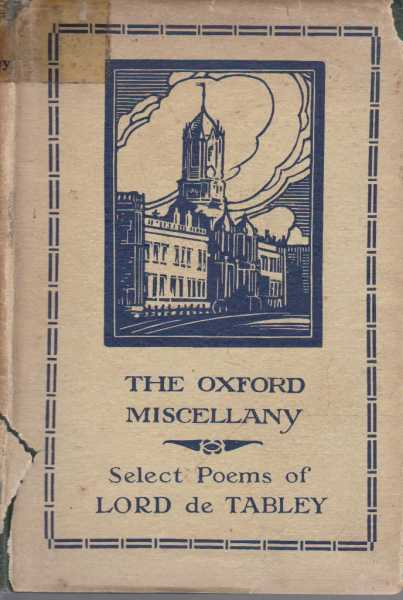 Image for The Oxford Miscellany: Select Poems of Lord de Tabley