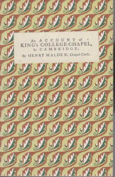 Image for An Account of King's College-Chapel in Cambridge