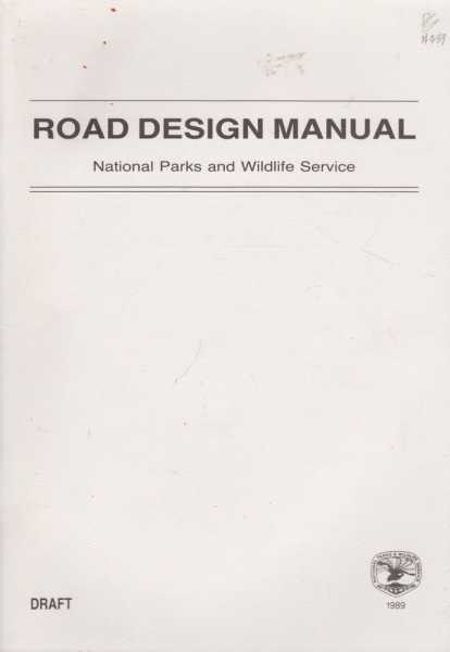 Image for Road Design Manual - Draft 1989