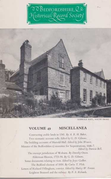 Image for Samuel Whitbread's Notebooks Volume 49 Miscellanea[The Publications of the Bedfordshire Historical Record Society Volume XLIX]