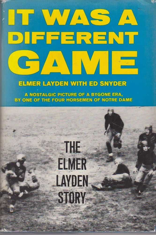 Image for It Was a Different Game: The Elmer Layden Story