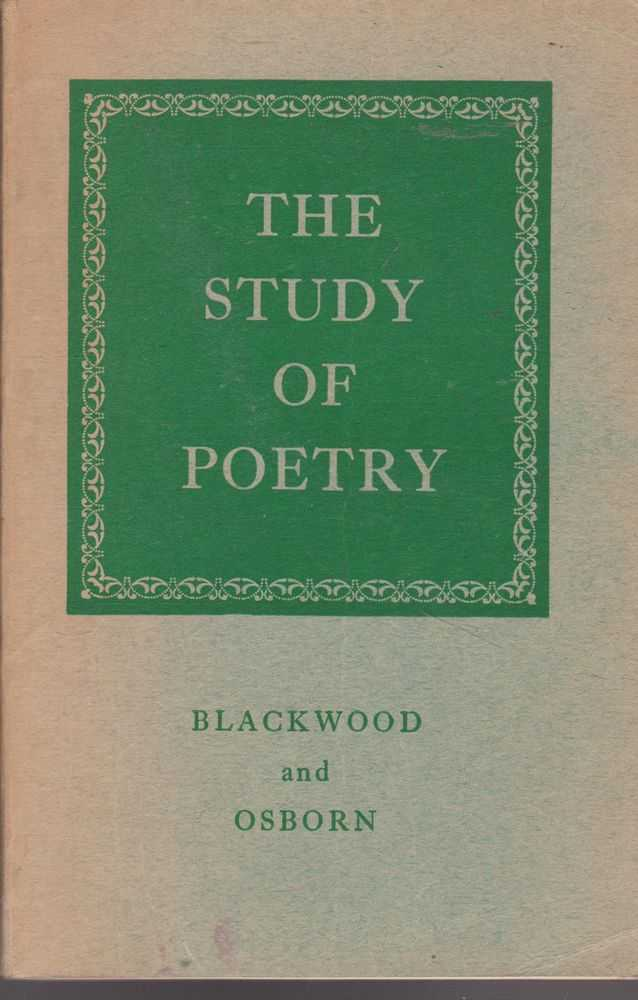 Image for The Study of Poetry