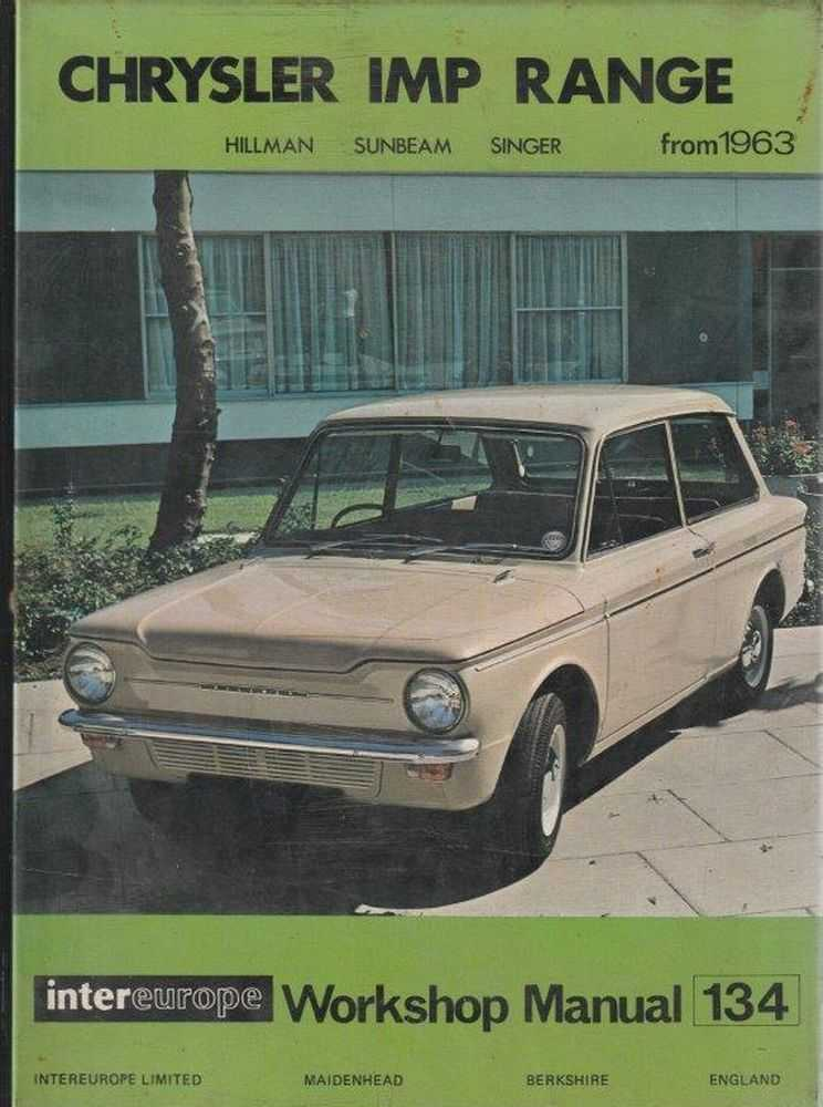 Image for Workshop Manual for Chrysler IMP Range - Hillman, Sunbeam and Singer