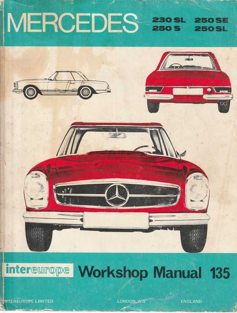 Image for Mercedes Benz 1965-1968 The 250 Series and the 230SL - 230SL; 250SL; 250S; 250SL: