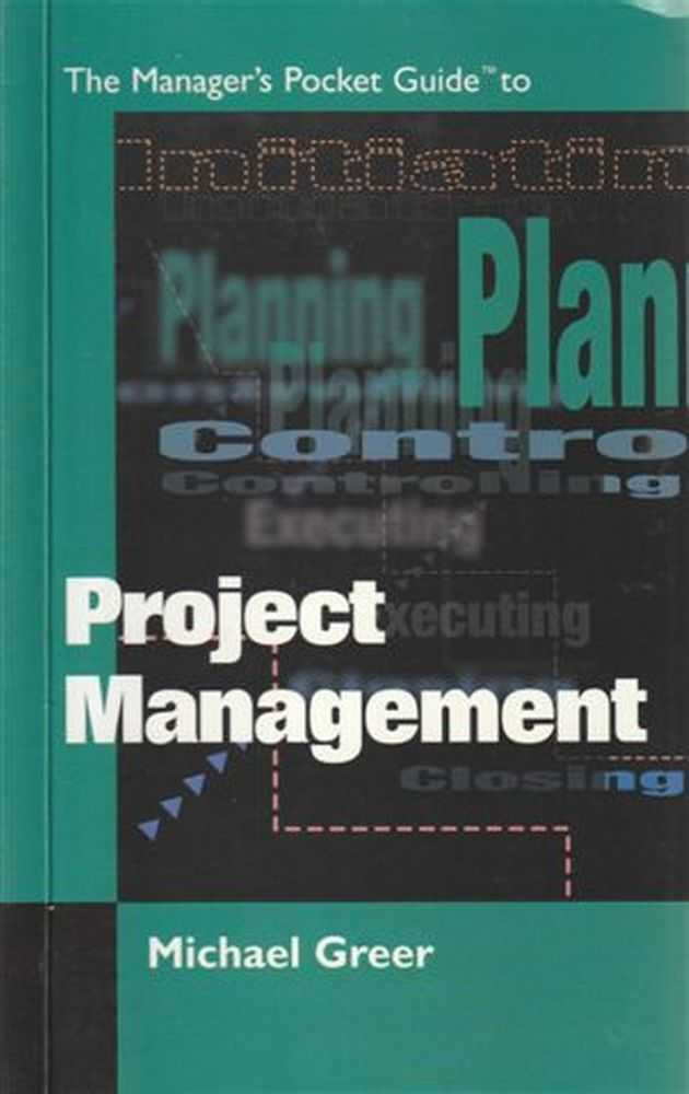 Image for The Manager's Pocket Guide to Project Management