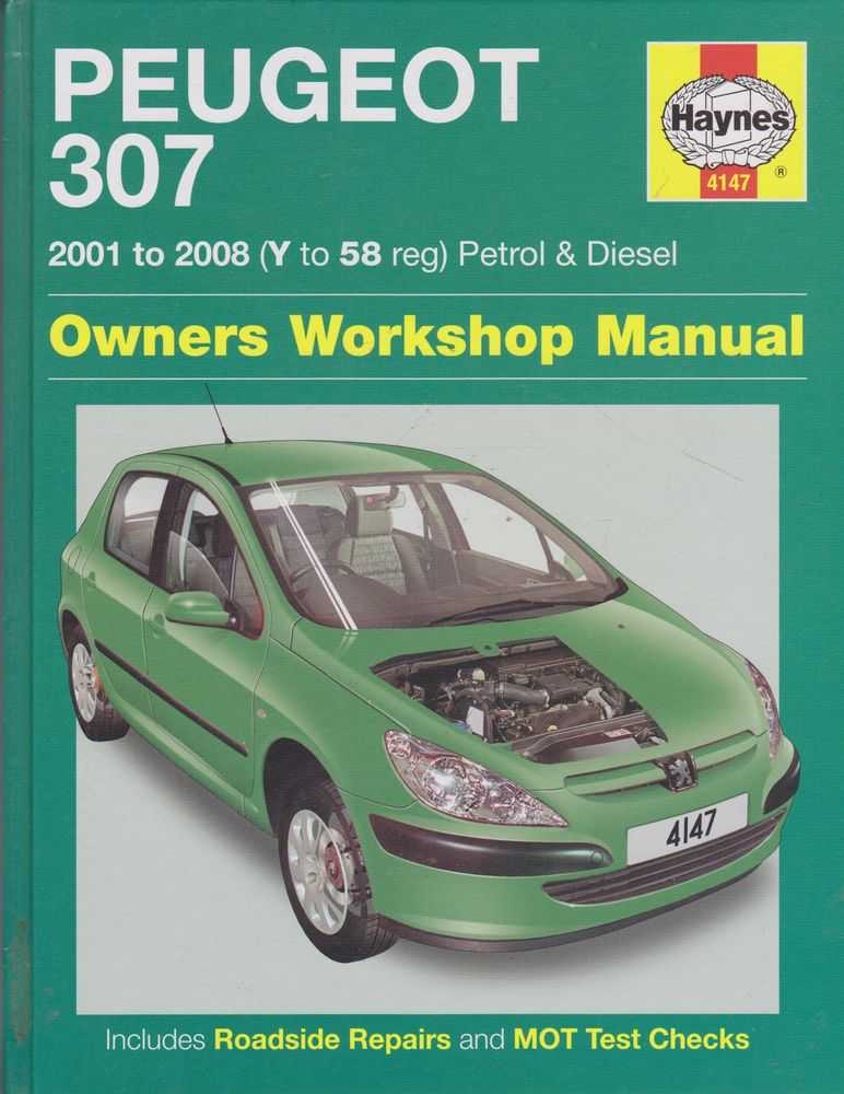 Image for Peugeot 307 2001 to 2008 [Y to 58 Reg] Petrol and Diesel