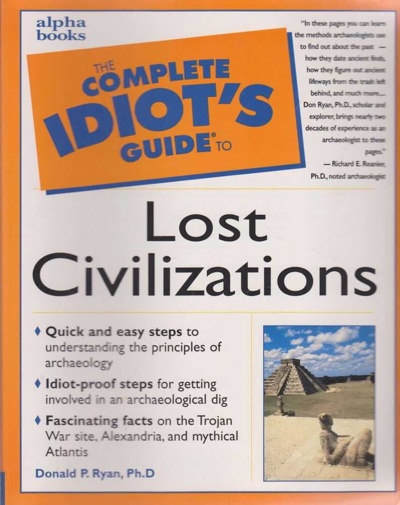 Image for The Complete Idiot's Guide to Lost Civilizations