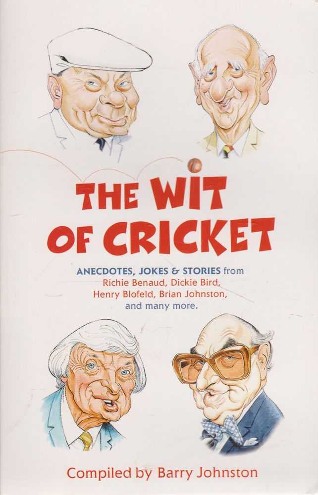 Image for The Wit of Cricket: Anecdotes, Jokes & Stories from Richie Benaud, Dickie Bird, Henry Blofield, Brian Johnson