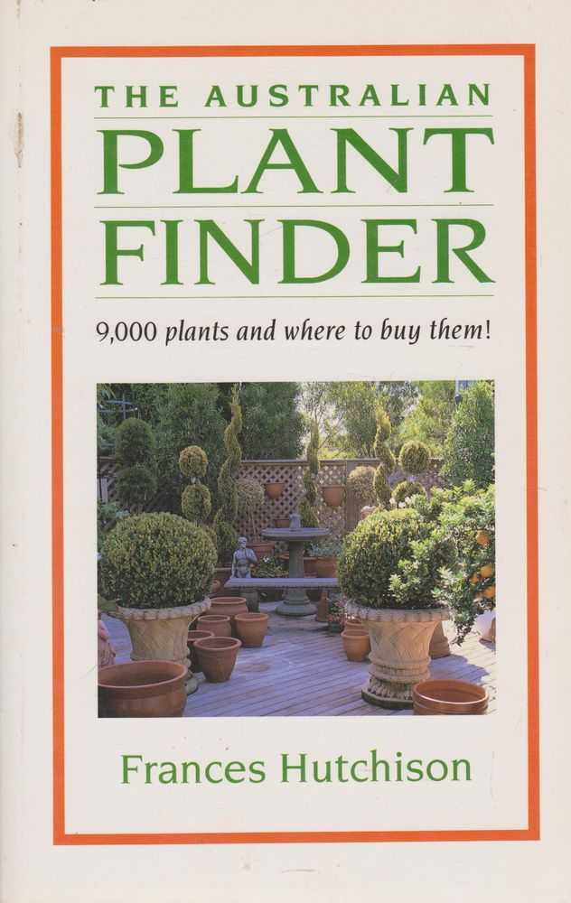 Image for The Australian Plant Finder: 9,000 Plants and Where to Buy Them!