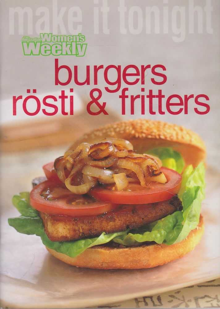 Image for Burgers Rosti & Fritters