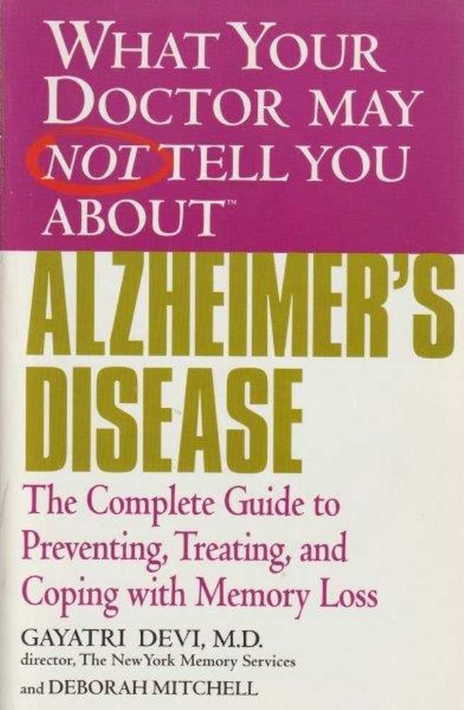 Image for What Your Doctor May Not Tell You About Alzheimer's Disease
