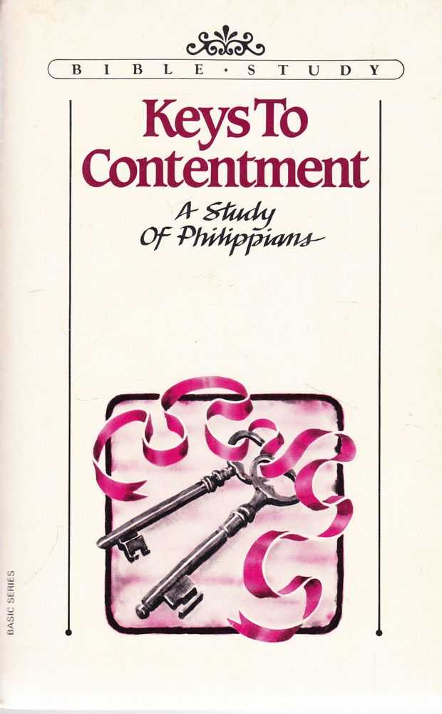 Image for Keys to Contentment: A Study of Philippians