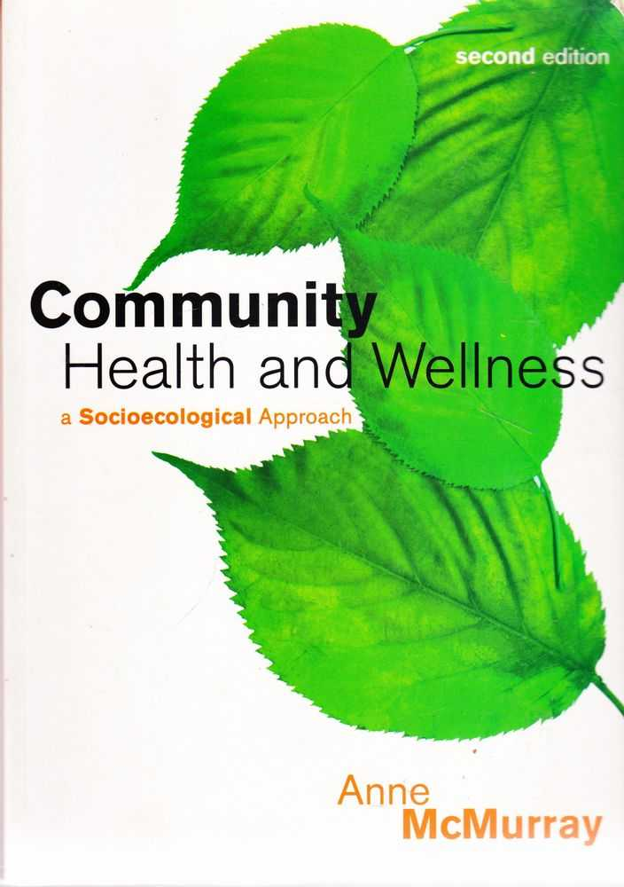 Image for Community Health and Wellness: A Sociological Approach