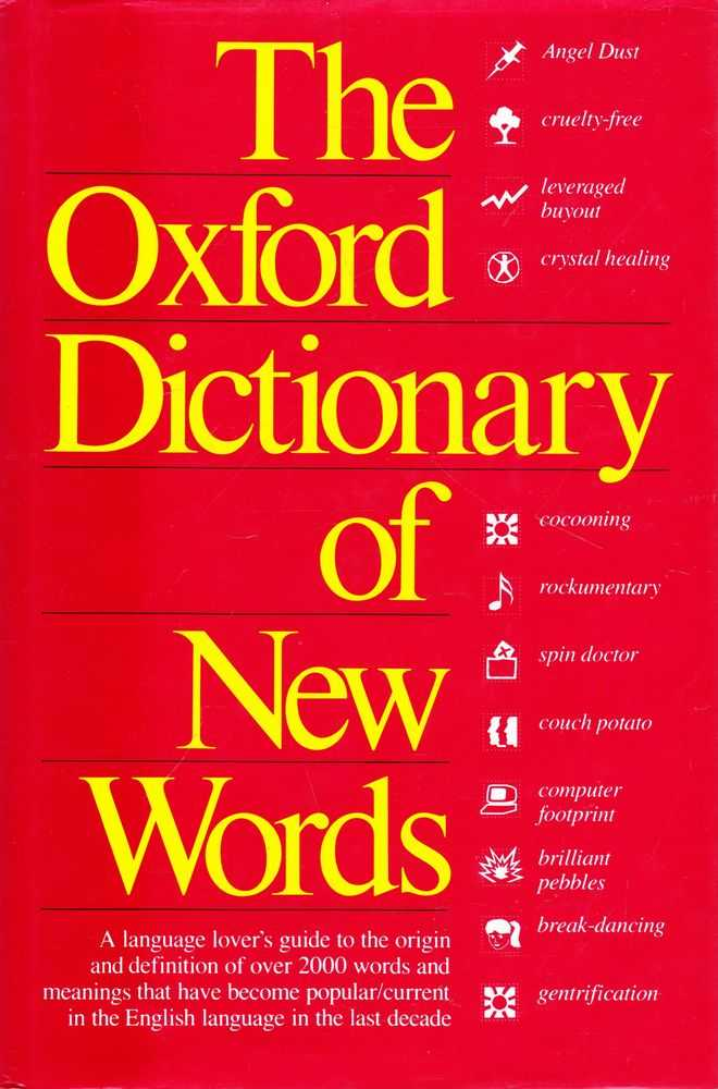 Image for A Dictionary of New Words