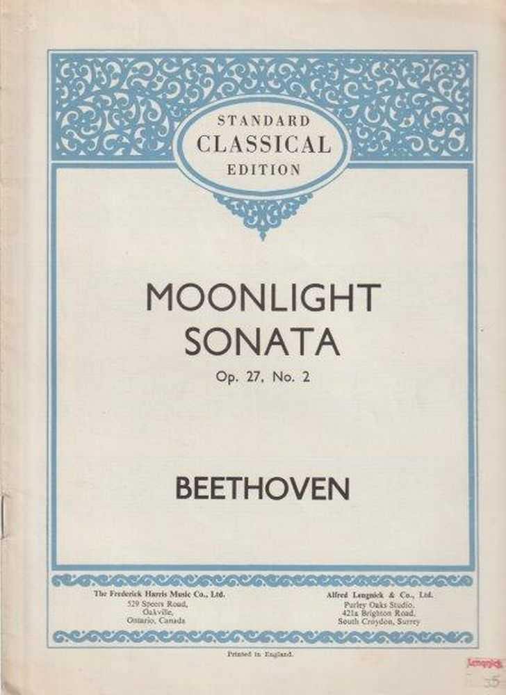 Image for Moonlight Sonata Op. 27, No. 2