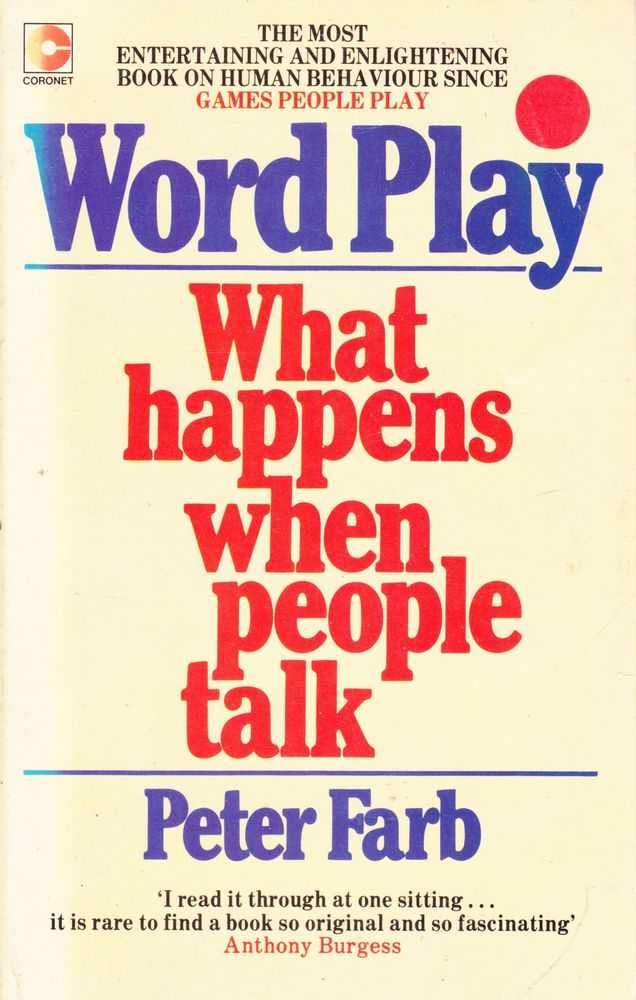 Image for Word Play - What happens When People Talk