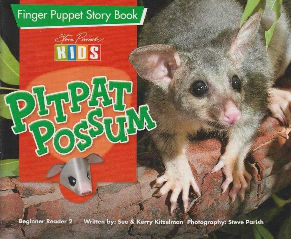 Image for PitPat Possum - Finger Puppet Story Book