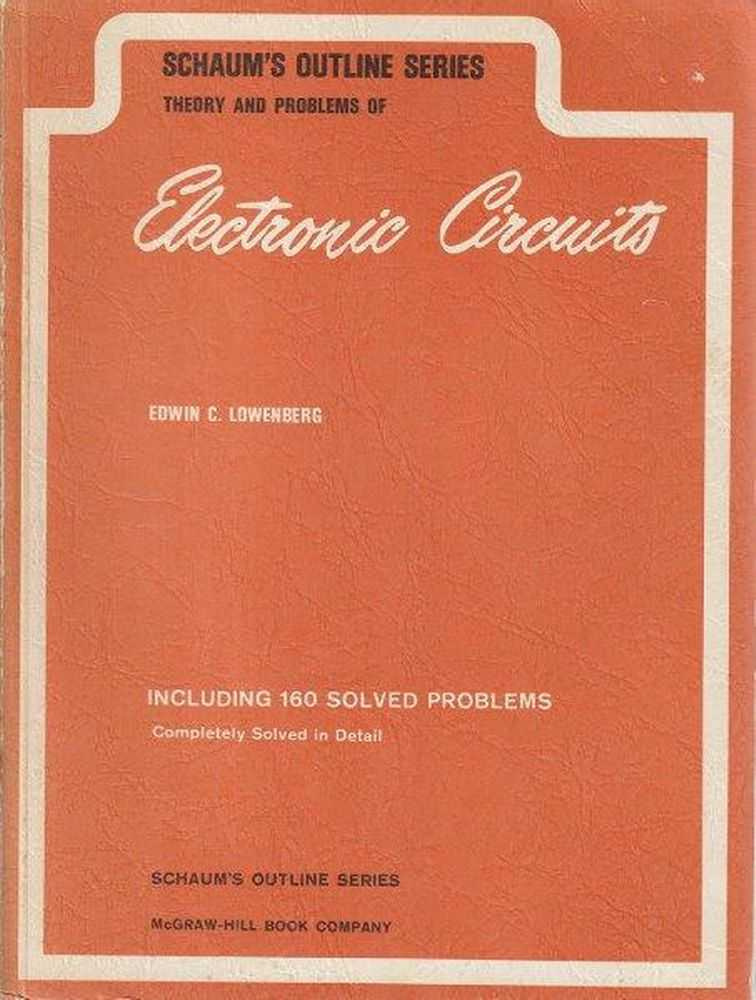 Image for Schaum's Outline Series: Theory And Problems Of Electronic Circuits Including 160 Solved Problems