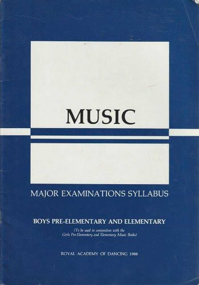 Image for Music - Major Examinations Syllabus - Boys Pre-Elementary And Elementary