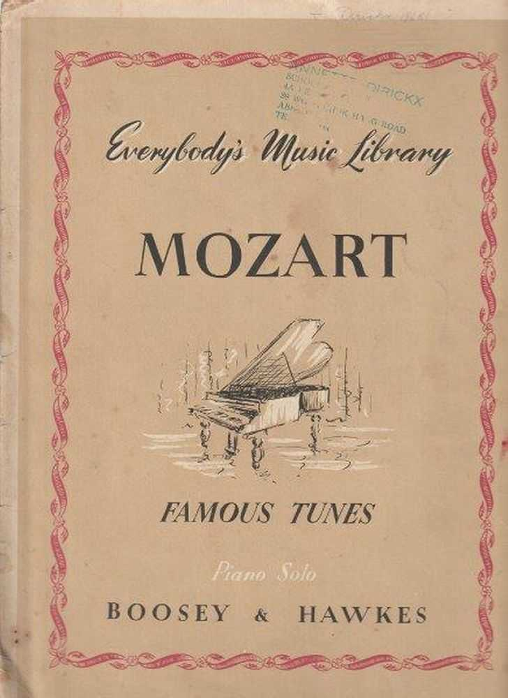 Image for Mozart Everybody's Music Library - Famous Tunes - Piano Solo