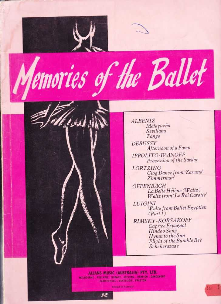 Image for Memories Of The Ballet