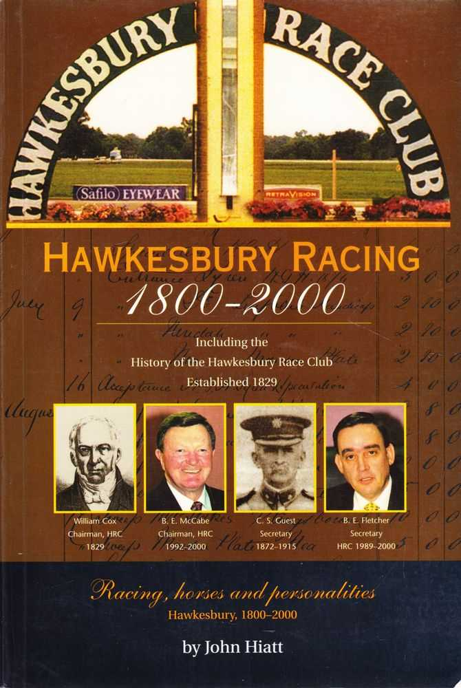 Image for Hawkesbury Racing 1800-2000[Including the History of the Hawkesbury Race Club Established 1829] Racing, Horses and Personalities