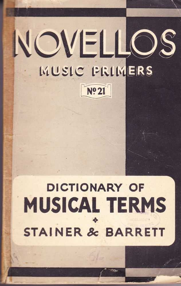 Image for Dictionary of Musical Terms [Novellos Music Primers No. 21]