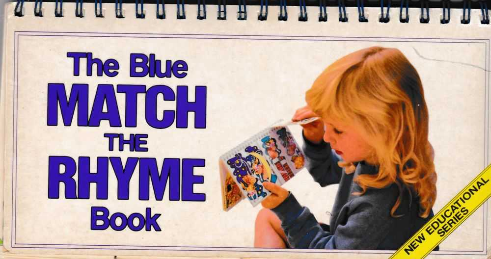 Image for The Blue Match The Rhyme Book