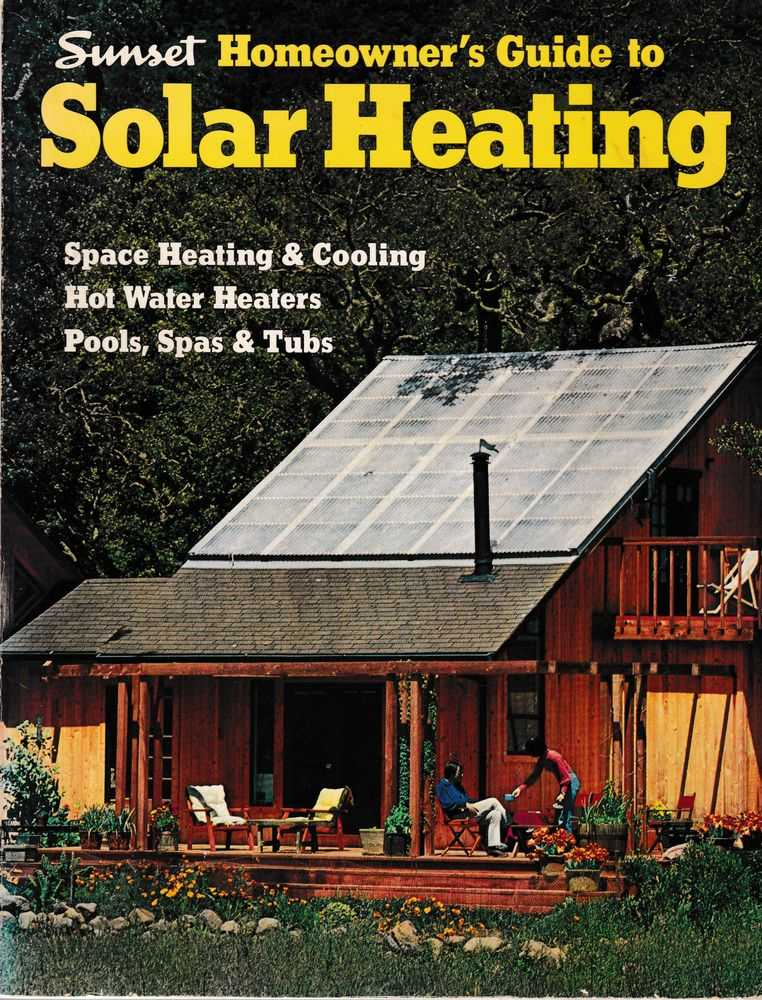 Image for Sunset Homeowner's Guide to Solar Heating
