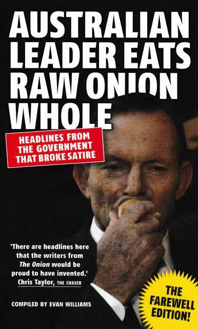 Image for Australian Leader Eats Raw Onion Whole