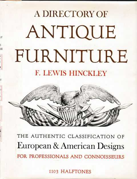 Image for A Directory of Antique Furniture: The Authentic Classification of European & American Designs for Professionals and Connoisseurs