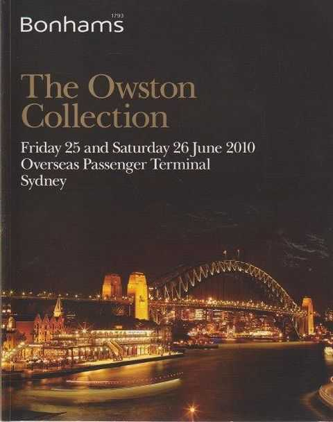 Image for The Owston Collection - Friday 25 and Saturday 26 June 2010 Overseas Passenger Terminal Sydney