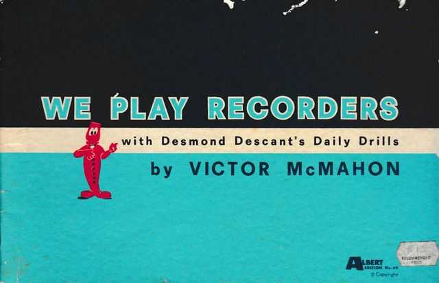 Image for We Play Recorders - With Desmond Descant's Daily Drills