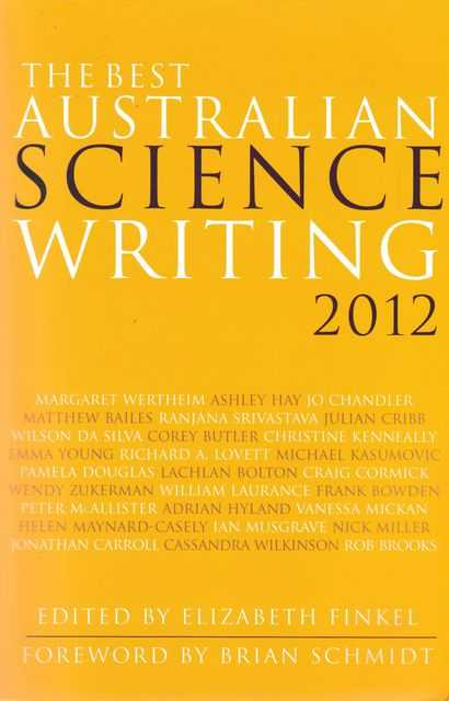 Image for The Best Australian Science Writing 2012