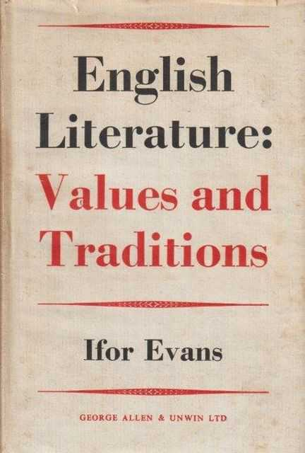 Image for English Literature: Values And Traditions