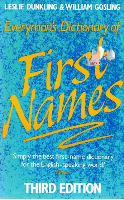 Image for Everyman's Dictionary of First Names