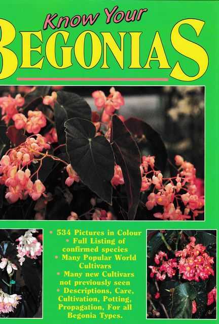 Image for Know Your Begonias