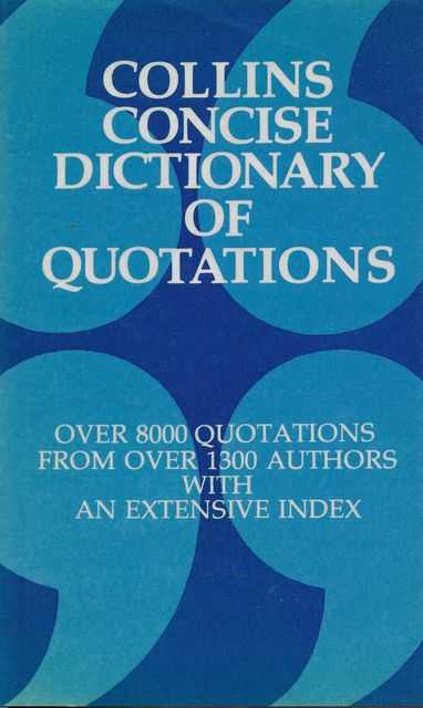Image for Collins Concise Dictionary of Quotations